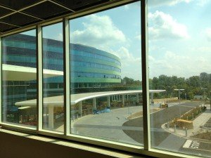 OHC West patient rooms have great views of the Mercy West hospital campus.