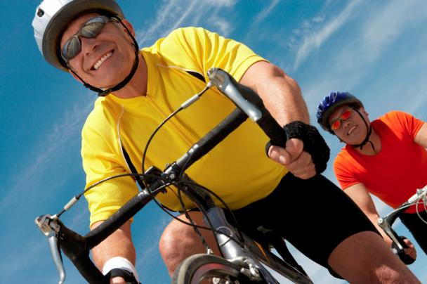 Men Riding Bicycles