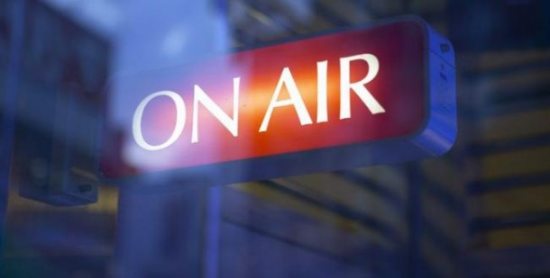 On The Air Radio TV Interview Sign