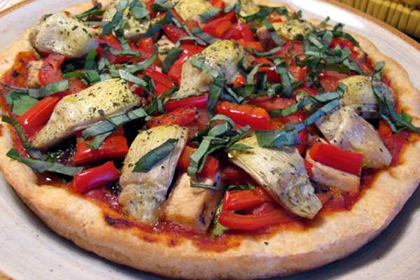 Eggplant & Artichoke Pizza