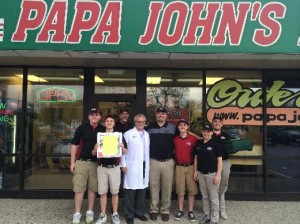 OHC Ed Crane and Papa Johns Man of Year