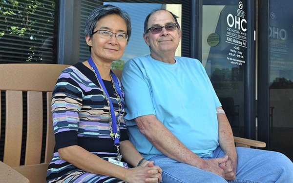Dr Cynthia Chua and OHC Patient Michael Belavic