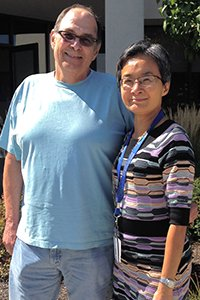 Recovering OHC Patient Michael Belavic with Dr. Cynthia Chua.