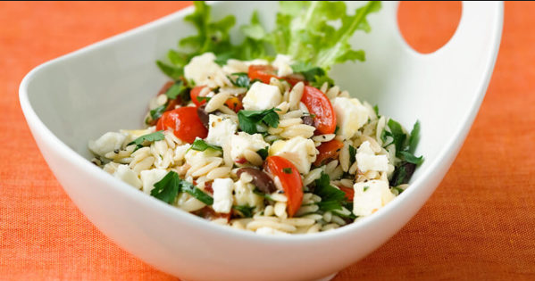 OHC Delicious Nutritious Herbed Orzo Salad Recipe Rita Nader Heikenfeld