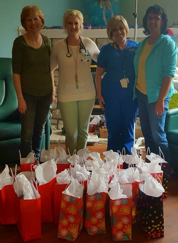 Ladies donate gifts to OHC-Wilmington chemotherapy patients