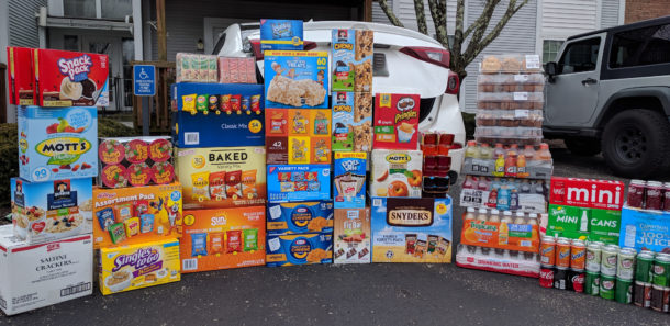 Food snacks and treats donated to Blood Cancer Center - The Jewish Hospital