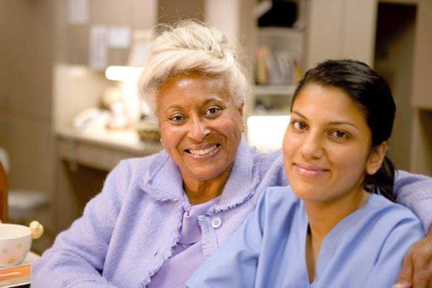 palliative care nurse and patient