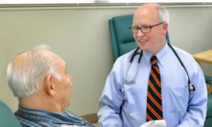 david waterhouse md with patient