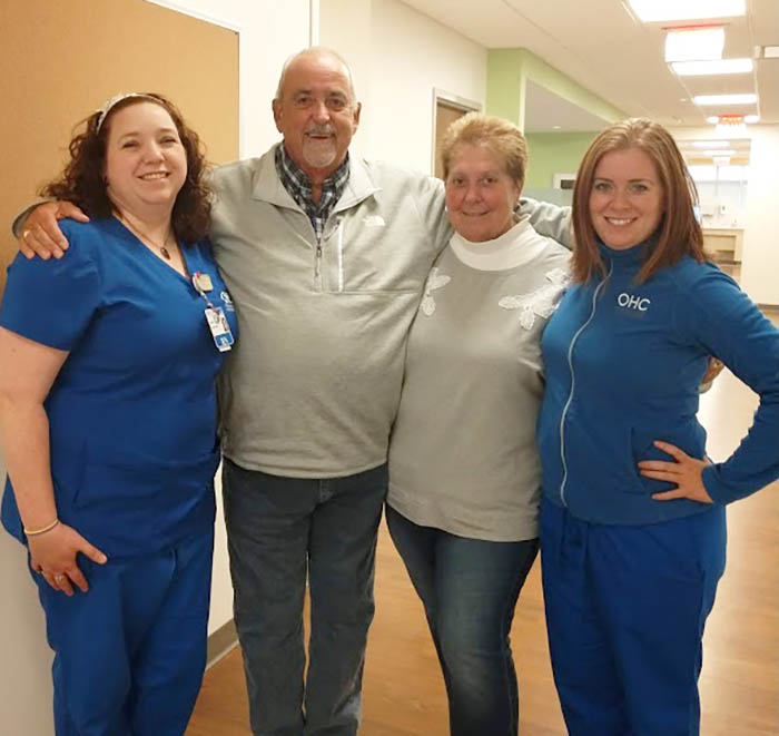 Lung cancer patient sees positive results thanks to his OHC doctors, nurses and a clinical trial.